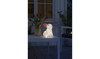 KONSTSMIDE LED-Dekofigur, LED Acryl Kaninchen 6h/9h Timer, 24 warm weiße Dioden kaufen