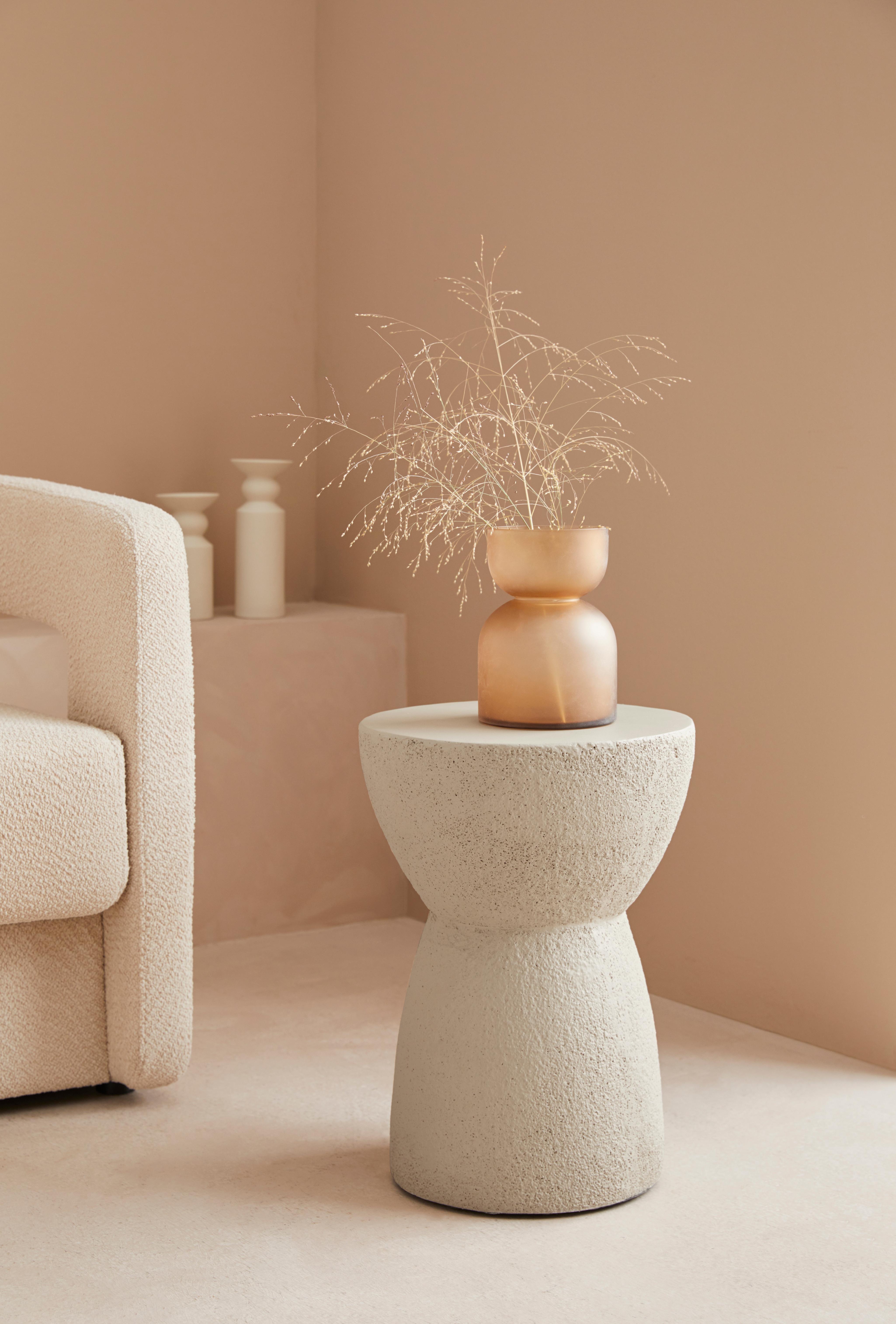 LeGer Home by Lena Gercke Beistelltisch Zarah, in Betonoptik, moderne Form beige Beistelltische Tische