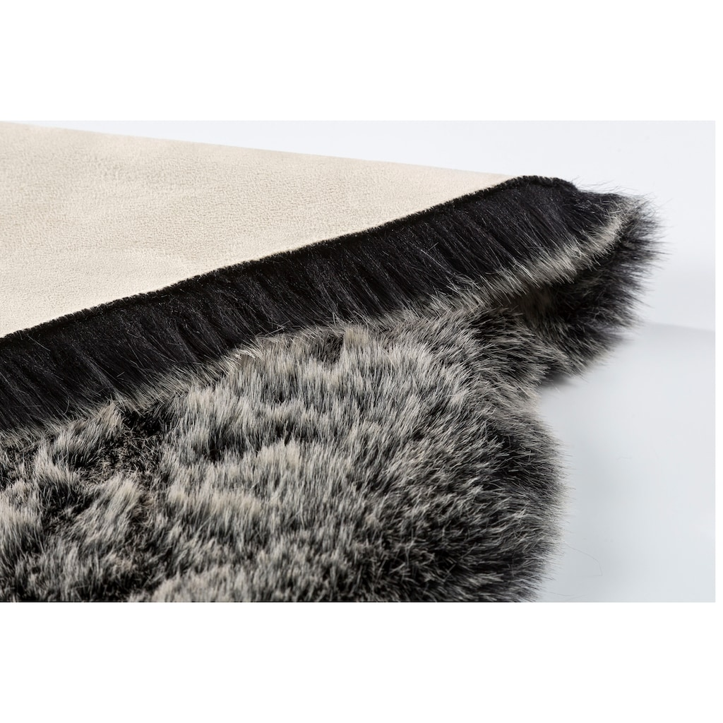 ASTRA Fellteppich »Lucia«, fellförmig, 50 mm Höhe, Kunstfell, waschbar, Wohnzimmer
