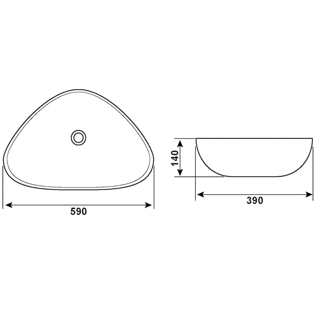 CORNAT Aufsatzwaschbecken »PONTE«, Breite 59 cm