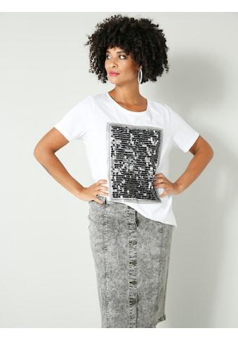 Angel of Style by HAPPYsize Rundhalsshirt, mit Pailletten und Glitzerdruck kaufen
