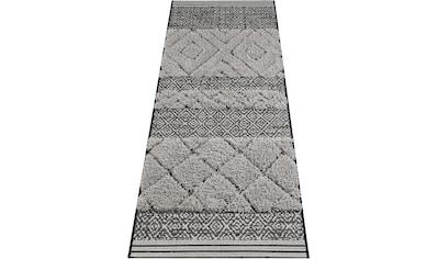 MINT RUGS Läufer »Todra«, rechteckig, 22 mm Höhe, Hoch-Tief-Struktur kaufen