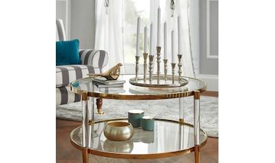 Leonique Couchtisch »Ceadda«, mit Metallbeinen und einer Glastischplatte, in 2 Farben, Breite 102 cm kaufen