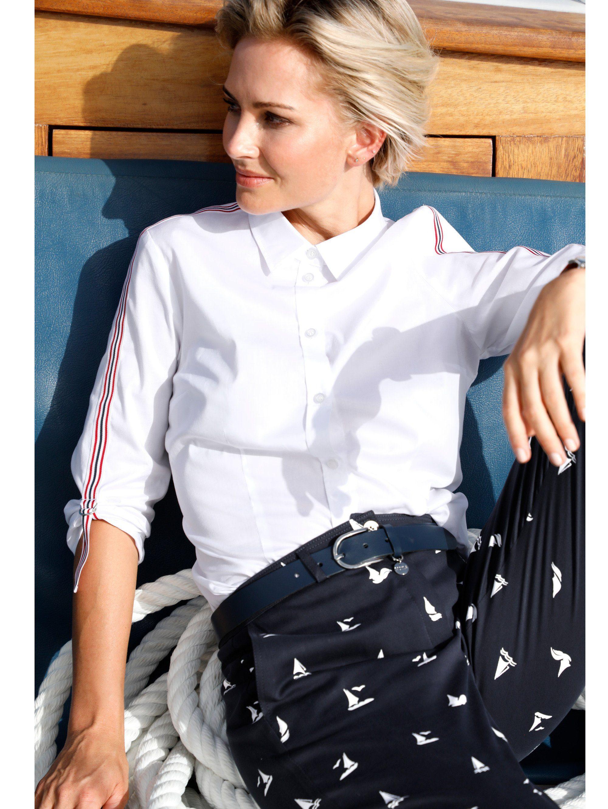 Mona Hemdbluse aus Baumwoll-Qualität