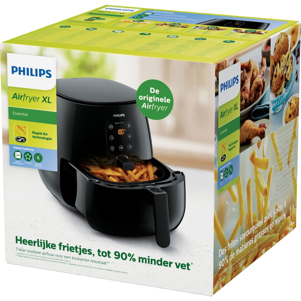Philips Heissluftfritteuse HD9260/90 Airfryer XL, 1900 Watt