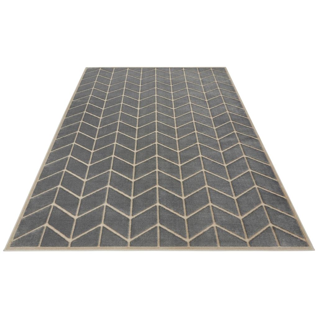 ELLE Decor Teppich »Loire«, rechteckig, 8 mm Höhe, Hoch-Tief-Struktur, Wohnzimmer