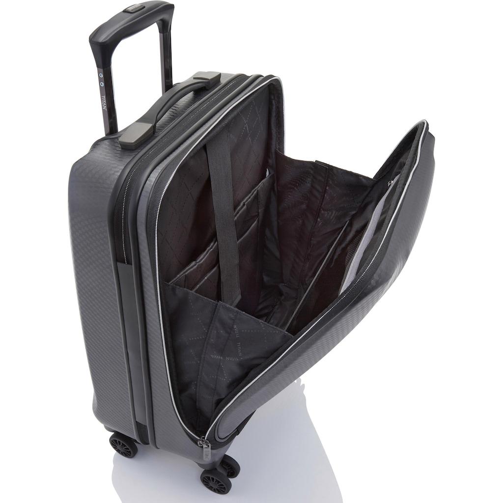 TITAN® Business-Trolley »Xenon Deluxe, 55 cm, Graphite«, 4 Rollen, mit Tablet- und Laptopfach