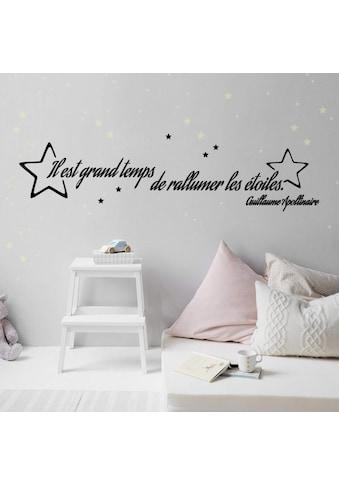 Wall - Art Wandtattoo »Il est grand temps Leuchtsterne« (1 Stück) kaufen