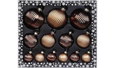 MAGIC by Inge Weihnachtsbaumkugel »Winter Toffee«, (Set, 13 St.), hochwertiger... kaufen