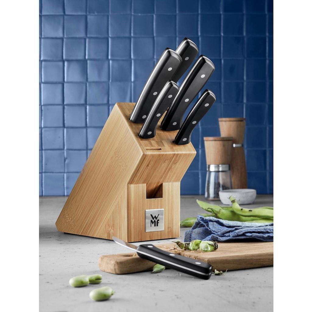 WMF Messerblock »Profi Select«, 7 tlg., Klingen aus rostfreiem Spezialklingenstahl, Block aus Bambus