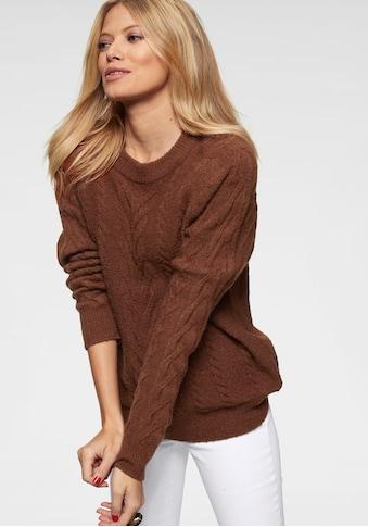 Aniston CASUAL Rundhalspullover, mit Zopfmuster kaufen