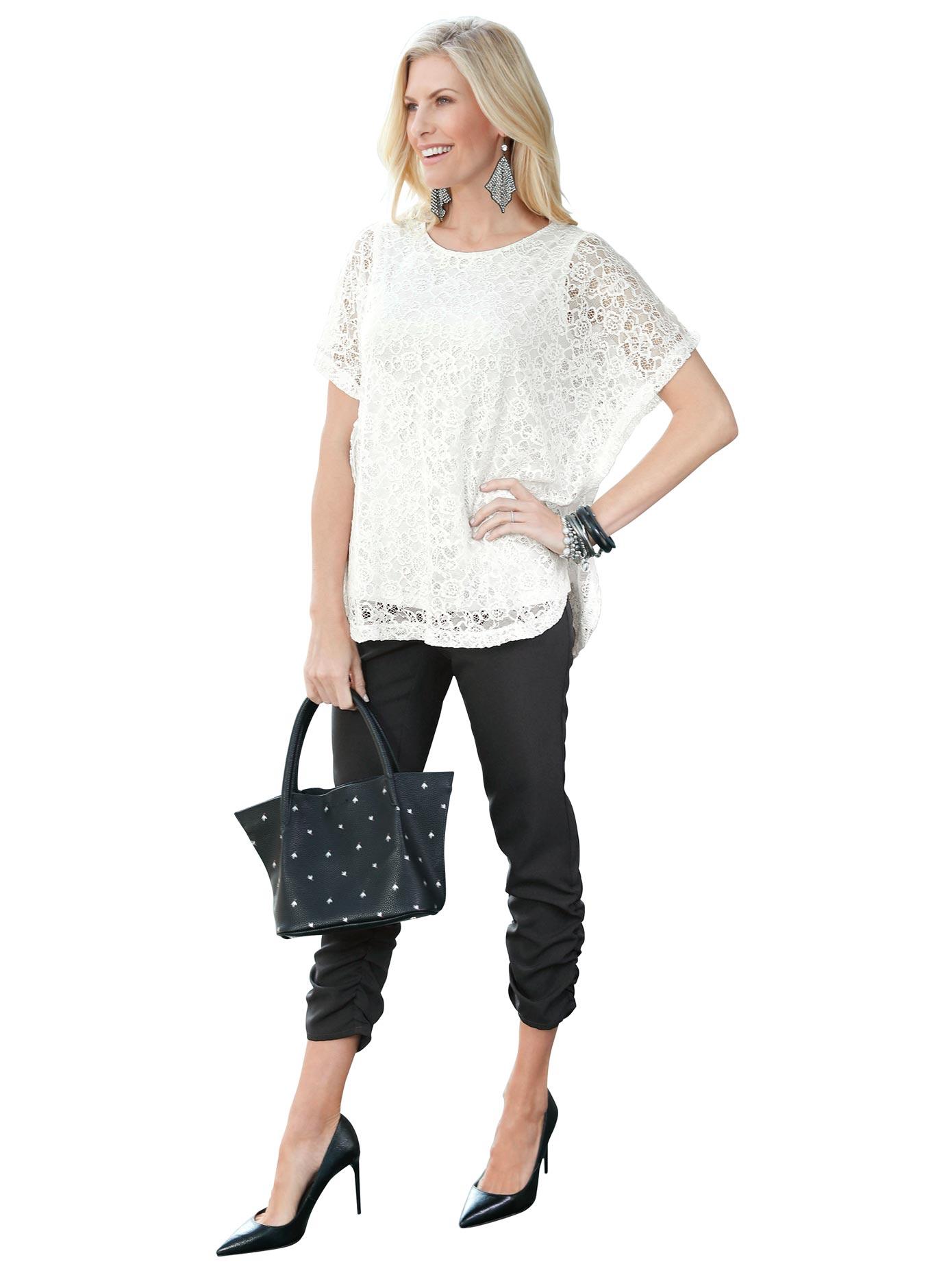 Classic Basics Tunikashirt aus floraler transparenter Spitze | Bekleidung > Shirts > Tunikashirts | Classic Basics