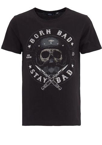 KingKerosin Print-Shirt, mit Skull Print Born Bad Stay Bad kaufen