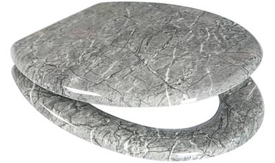 ADOB WC - Sitz »Granit«, mit messingverchromten Scharnieren kaufen