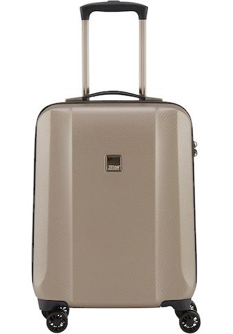 TITAN® Hartschalen-Trolley »Xenon Deluxe, 55 cm, Champagne«, 4 Rollen kaufen