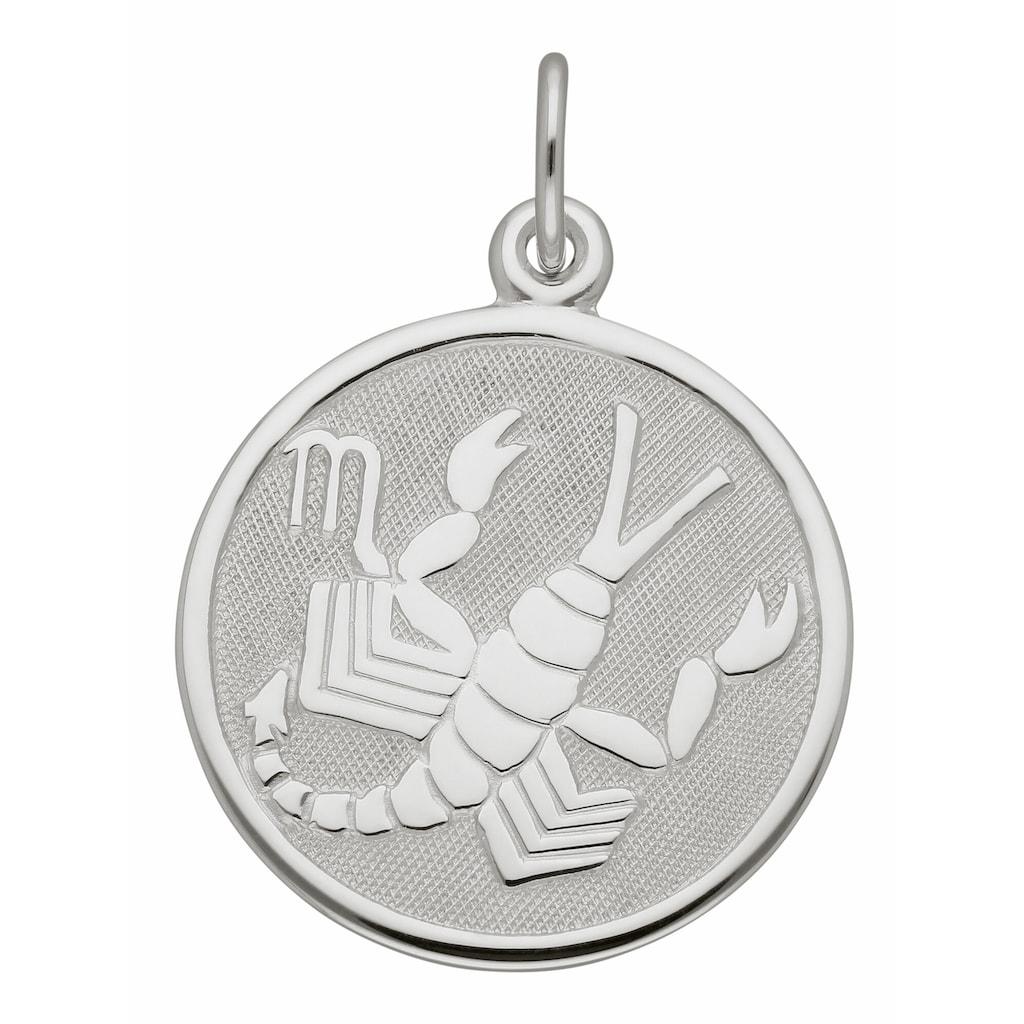 Adelia´s Kettenanhänger »925 Silber Sternzeichen Anhänger Skorpion Ø 15,7 mm«
