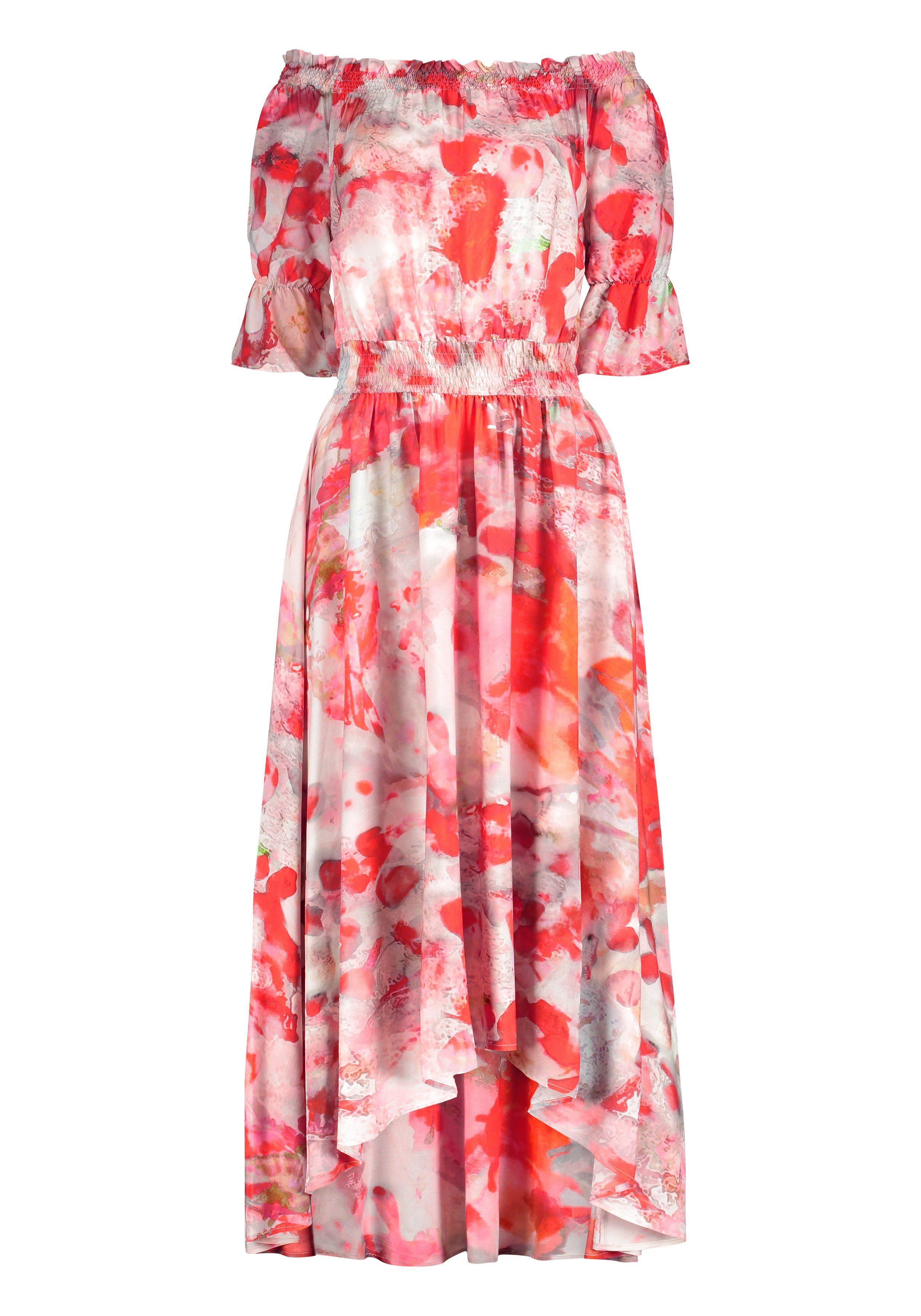 Nicowa Kleid NERMINI mit Carmenaussschnitt und Batik-Muster
