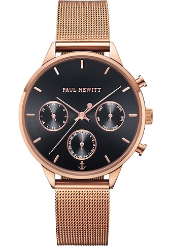 PAUL HEWITT Multifunktionsuhr »Everpulse Black Sunray Roségold Mesh, PH002812« kaufen