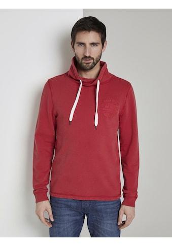 TOM TAILOR Kapuzensweatshirt »Snood mit Logo - Stickerei« kaufen