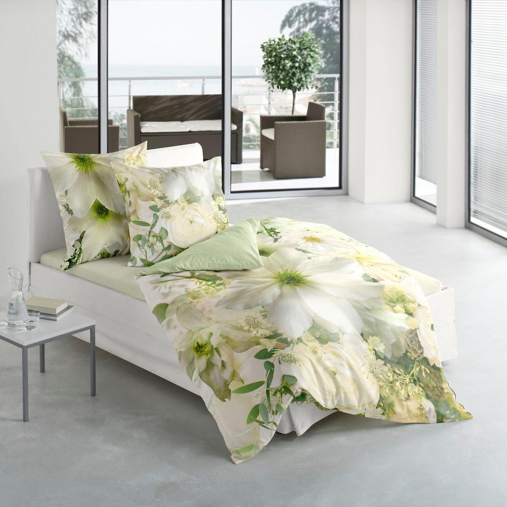 BIERBAUM Wendebettwäsche »Green Flower«, Digitaldruck