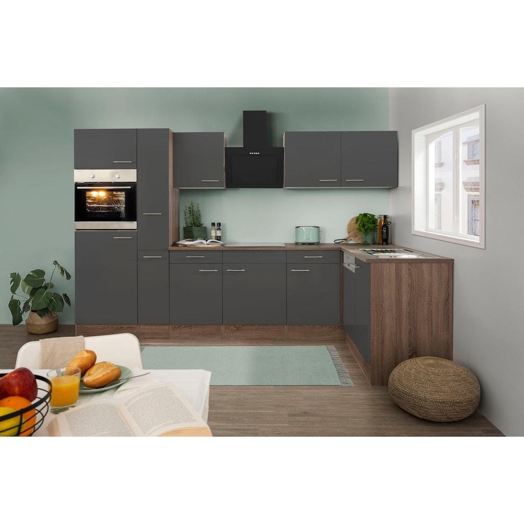 RESPEKTA Winkelküche »York«, mit E-Geräten, Breite 310 x 172cm