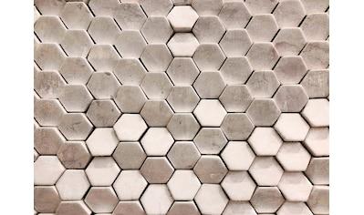 LIVINGWALLS Fototapete »Designwalls Hexagon Surface 2«, Premium Vlies kaufen