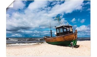 Artland Wandbild »Fischerboot in Ahlbeck Insel Usedom«, Boote & Schiffe, (1 St.), in... kaufen
