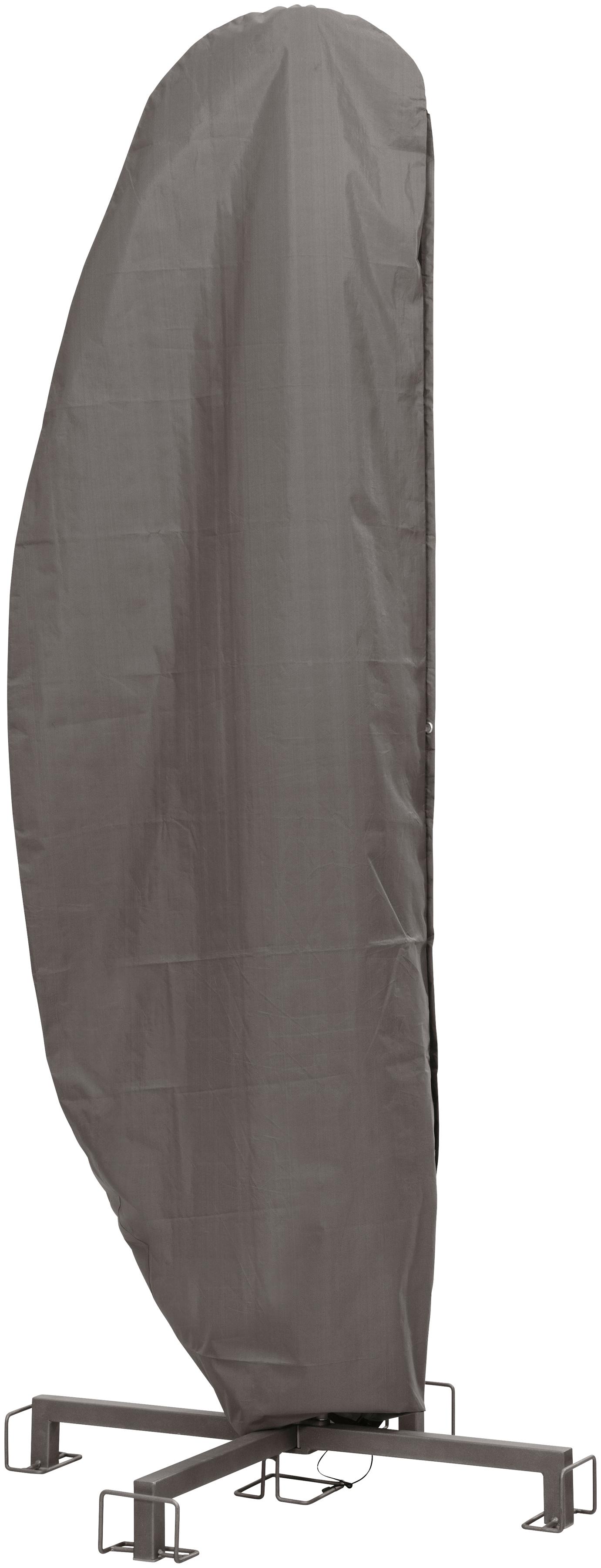 Best Schutzplane, (L/B): ca. 260x86 cm grau Gartenmöbel-Schutzhüllen Gartenmöbel Gartendeko Schutzplane