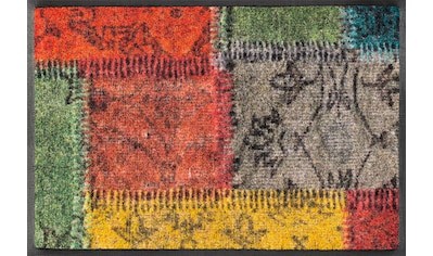 wash+dry by Kleen-Tex Fußmatte »Vintage Patches«, rechteckig, 7 mm Höhe, Schmutzfangmatte kaufen