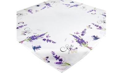 Delindo Lifestyle Mitteldecke »Lavendel ZWEIGE«, (1 St.), Strukturgewebe, bedruckt kaufen