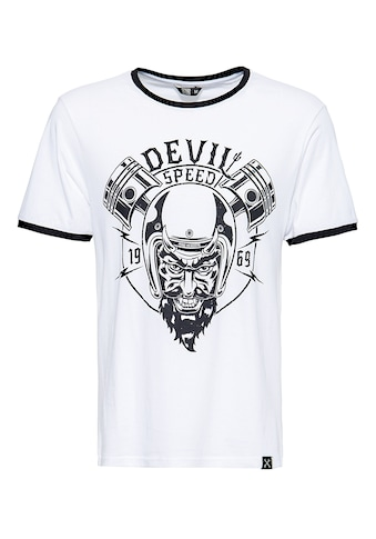 KingKerosin Print-Shirt »Speed Devil«, in angesagter Ringer Optik kaufen