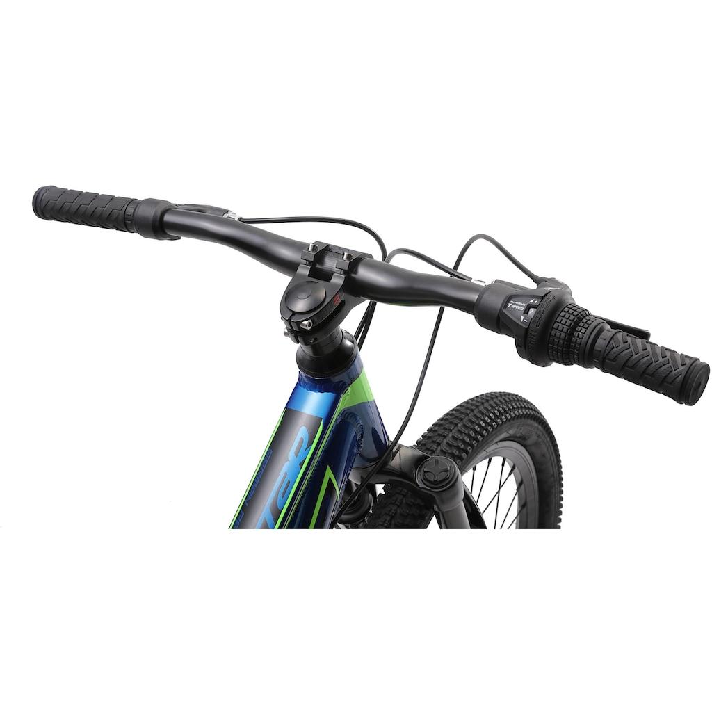 Bikestar Mountainbike, 7 Gang, Shimano, RD-TY300 Schaltwerk, Kettenschaltung