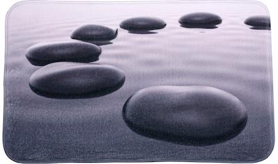 Sanilo Badematte »Black Stones«, Höhe 15 mm, schnell trocknend, Memory Schaum kaufen