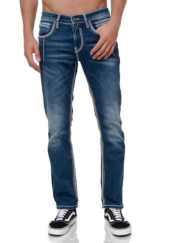 Rusty Neal Straight-Jeans »NEW YORK 49«, mit trendigen Ziernähten kaufen