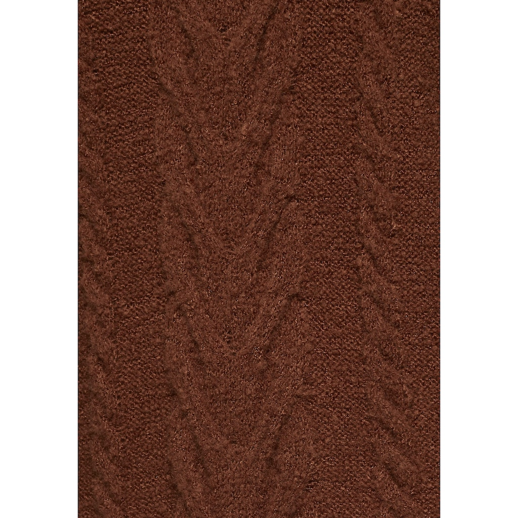 Aniston CASUAL Rundhalspullover, mit Zopfmuster