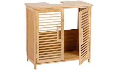 axentia Waschbeckenunterschrank »Waschbeckenunterschrank, Bambus«, Maße: ca. 60 x 58 x... kaufen