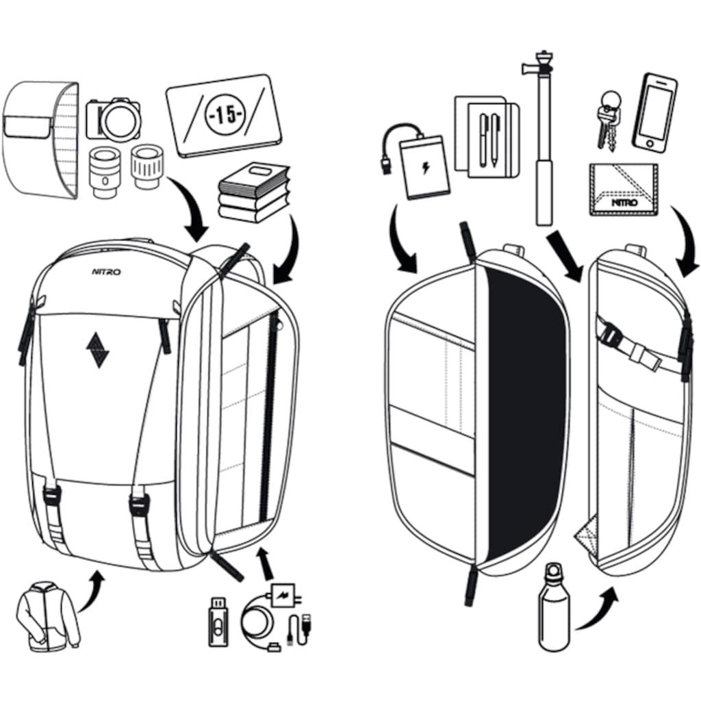 NITRO Fotorucksack »Remote, Black«, inkl. Einsatz für Equipment