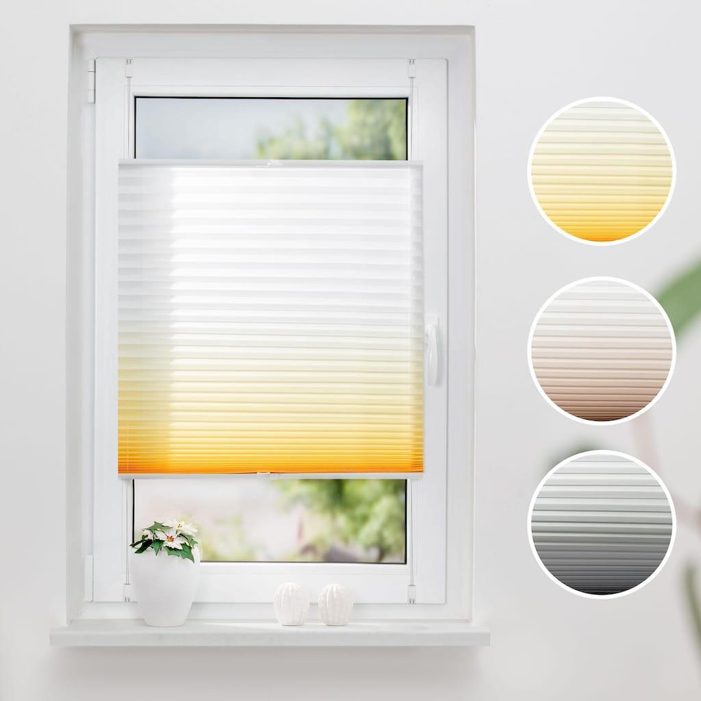 K-HOME Plissee »Farbverlauf«, Lichtschutz, ohne Bohren, verspannt