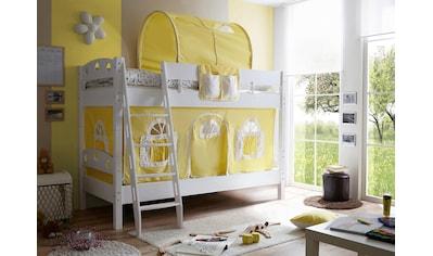 Ticaa Etagenbett »Kenny«, mit Rolllattenrost und Textil-Set kaufen