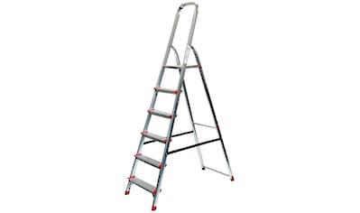 SZ METALL Stehleiter, Aluminium, 3,30 m, 6-stufig kaufen