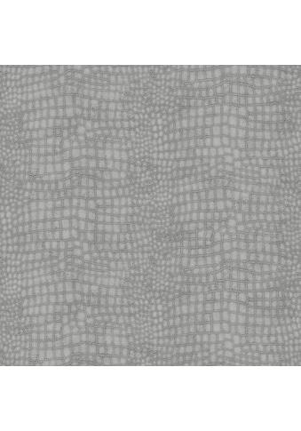 Art for the home Vliestapete »Krokodil«, Antiklederoptik, Grau - 10m x 52cm kaufen