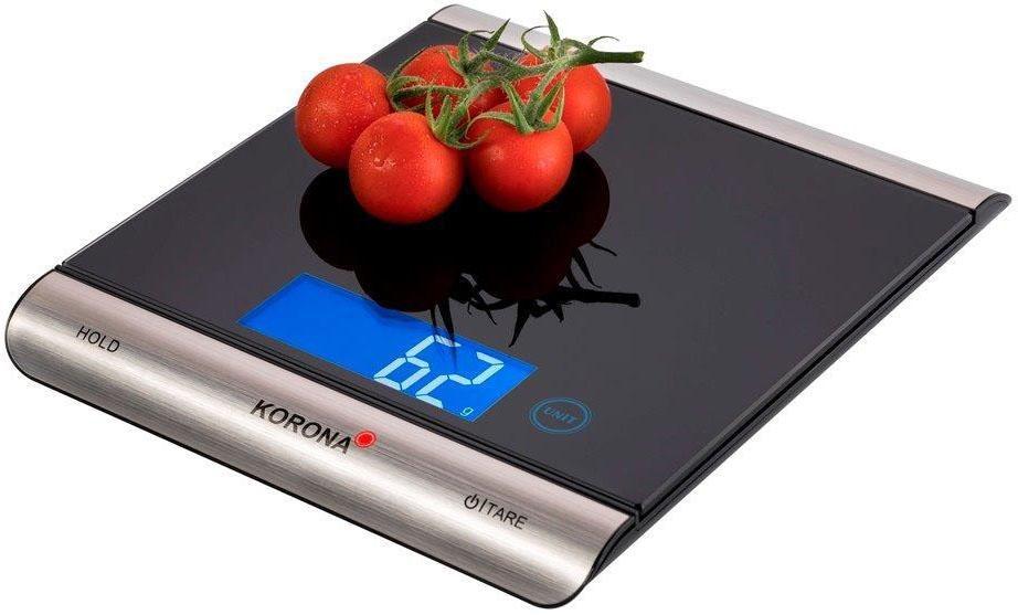 Korona Küchenwaage digital Finja 70230 Küchen-/Päckchenwaage 15 kg | Küche und Esszimmer > Küchengeräte > Küchenwaagen | Schwarz | Glas | Korona