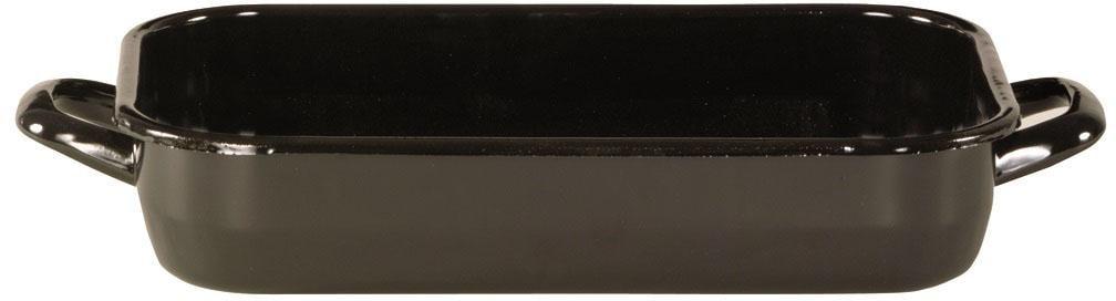 Krüger Bräter, Emaille, (1 tlg.), Backofengeeignet schwarz Bräter Töpfe Haushaltswaren