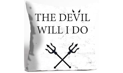 queence Dekokissen »THE DEVIL WILL I DO« kaufen
