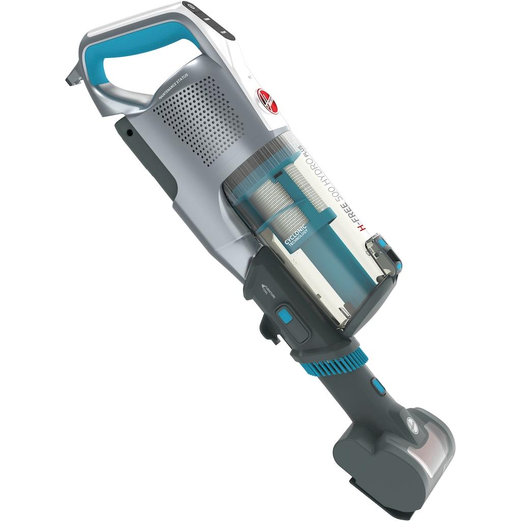 Hoover Akku-Hand-und Stielstaubsauger »H-FREE 500 Hydro, HF522YSP Akku-Staubsauger, 2 in 1, Saugen & Wischen, Laufzeit bis zu 45 Min., beutellos, kompakt,«, Schnellladen