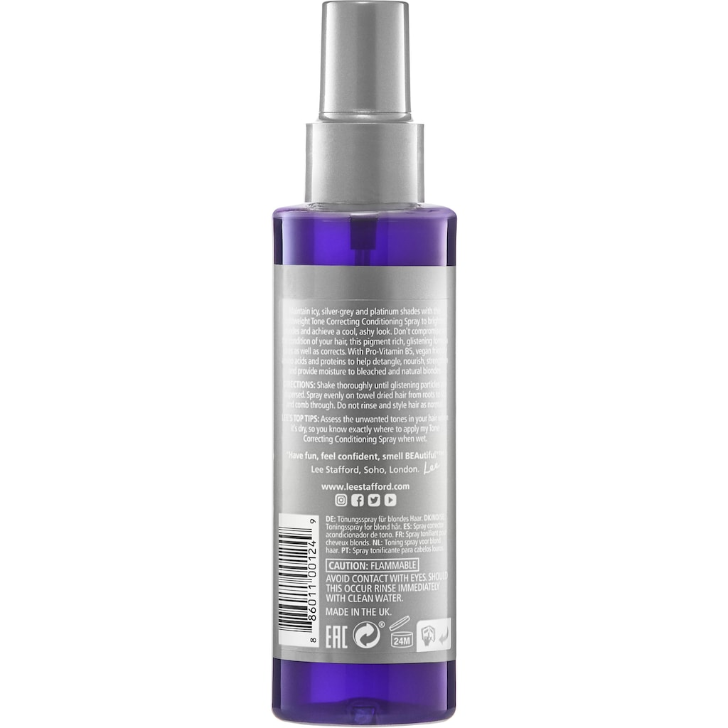 Lee Stafford Leave-in Pflege »Bleach Blonde Ice White Tone Correcting Conditioning Spray«