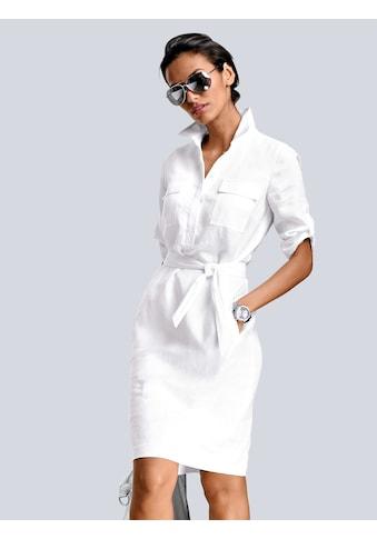 Alba Moda Leinenkleid in modischer Schnittführung kaufen