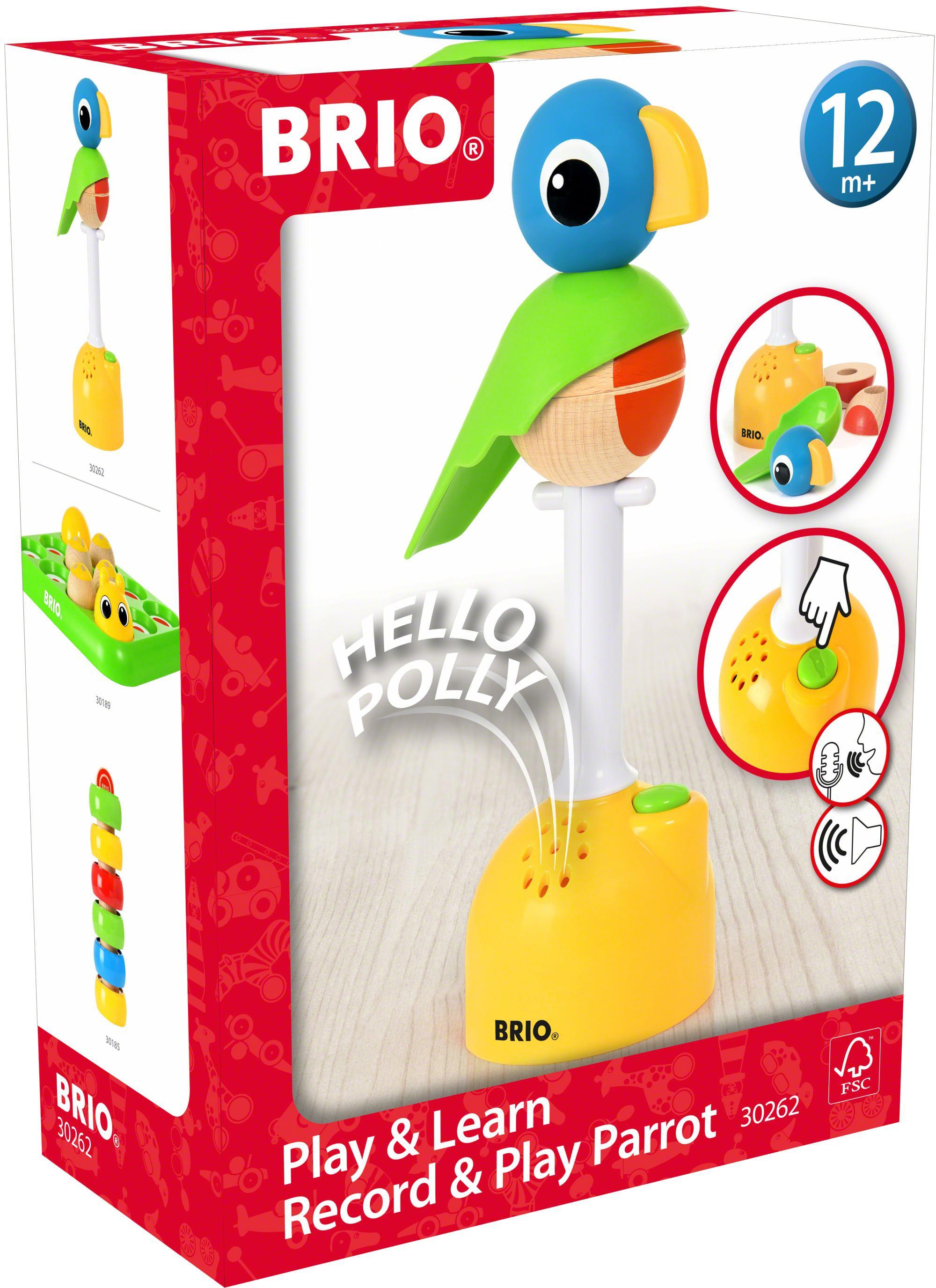 BRIO Steckspielzeug Musikspiel Papagei bunt Kinder Steck- Stapelspielzeug Baby Kleinkind