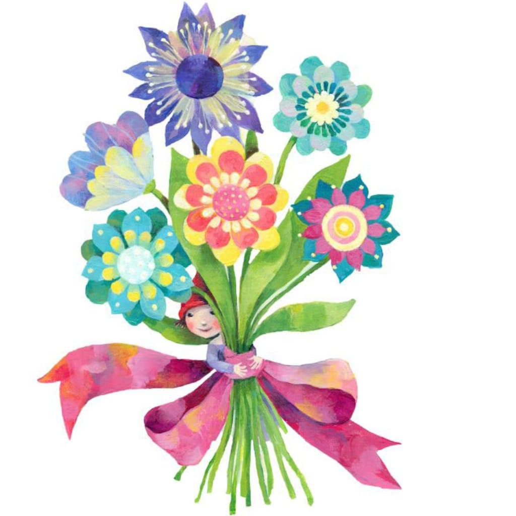 Wall-Art Wandtattoo »Märchenhaft Blumenstrauß«