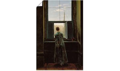 Artland Wandbild »Frau am Fenster. 1822(?)«, Frau, (1 St.), in vielen Größen & Produktarten - Alubild / Outdoorbild für den Außenbereich, Leinwandbild, Poster, Wandaufkleber / Wandtattoo auch für Badezimmer geeignet kaufen